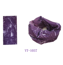 Tube Scarf, Magic Bandana in Multifunction (YT-1037) Lightning Design in Purple and White Color.