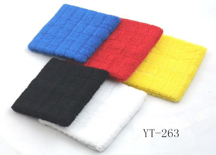 Cotton Jacquard Towel Design Wrist Band as YT-263