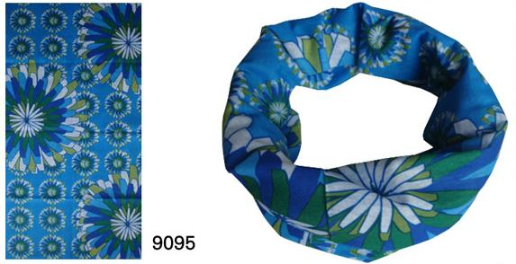 Neck Tubes in 3 Color Flower Design (YT-9120)