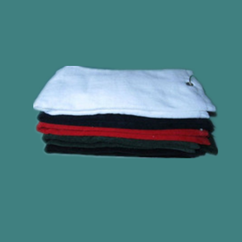 100% Cotton Golf Towel with Hook White Color as YT-1311