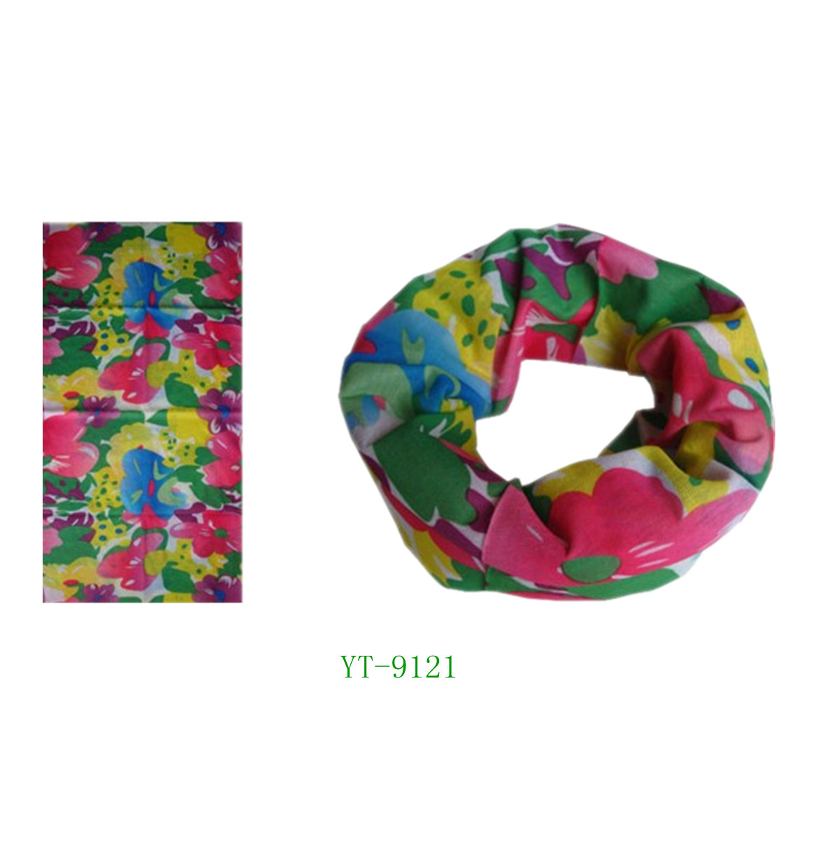 Bandana in Good Designed Flowers in 6 Colors (YT-9121)