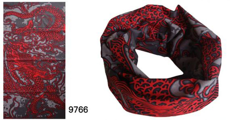 Seamless Scarf with Lucky Design for 2012 (YT-9766)